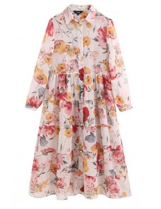 'Chantal' Casual Floral Midi Dress