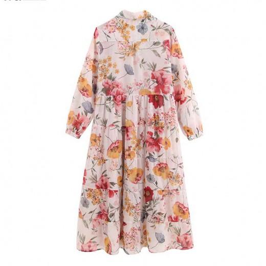 'Chantal' Casual Floral Midi Dress