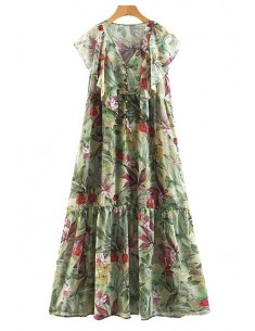 'Alma' Chic Floral Maxi Dress