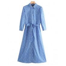 'Tanya' Lightweight Long Blue Dress
