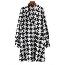 'Brittany' Black&White Houndstooth Dress