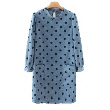 'Micah' Polka Dot Corduroy Dress