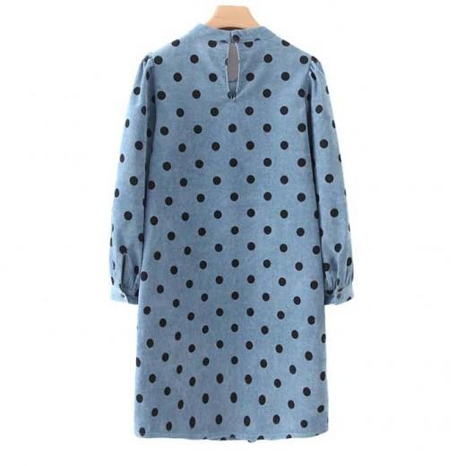 'Micah' Polka Dot Corduroy Dress