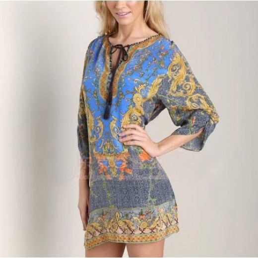 Floral Vintage Printed Boho Tunic