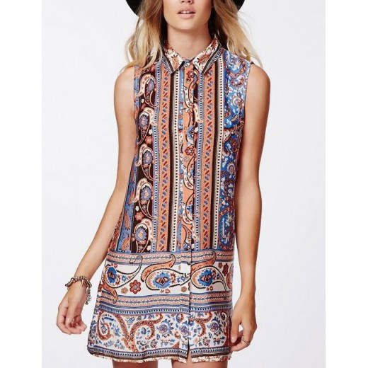 Paisley & Floral Colorful Print Tunic