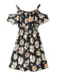 Floral Breezy Open Shoulder Dress