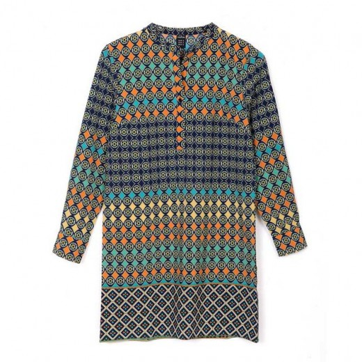 Geometric & Totem Print Boho Dress