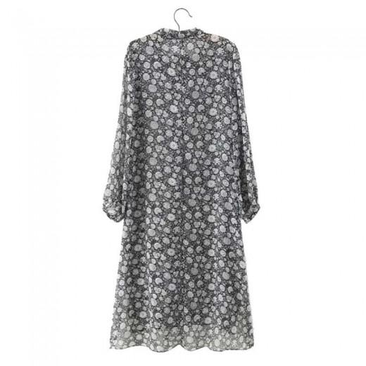 Vintage Floral Sheer Dress