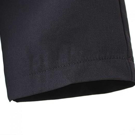 Three Quarter Sleeve Black Mini Dress