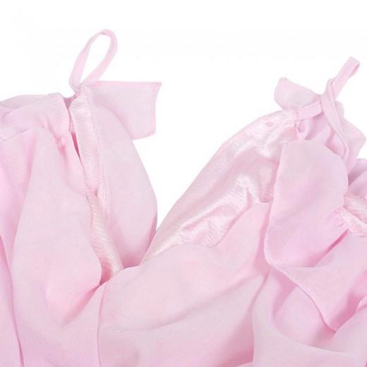 Cut Out Shoulder Pink Mini Dress