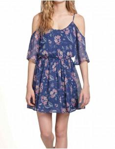 Floral Pattern Off Shoulder Dress