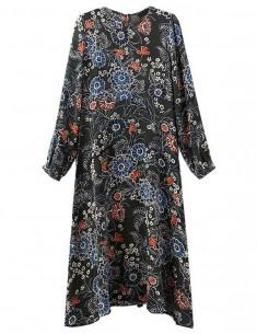 Delicate Floral Midi Dress