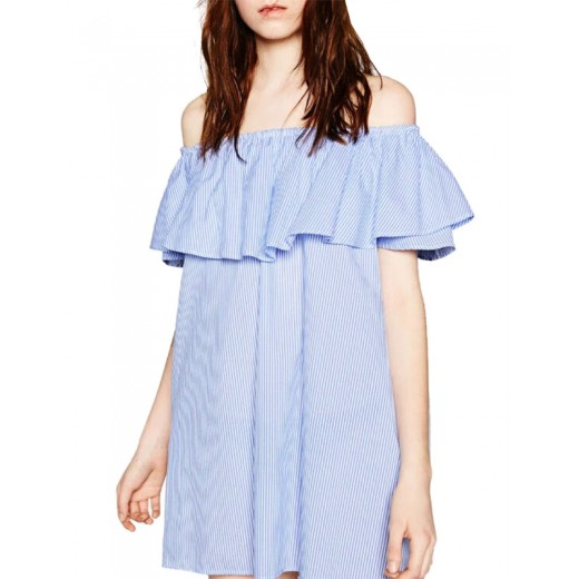 Off the Shoulder Sexy Ruffle Dress
