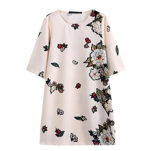 Half Sleeve Delicate Floral Tunic