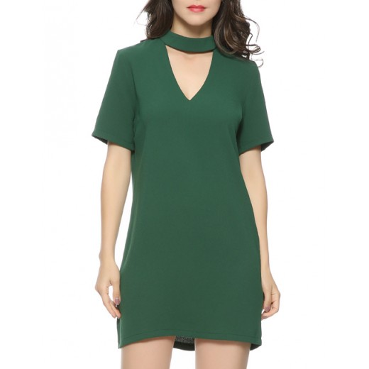 'Rosanna' Cut Out Neck Mini Dress