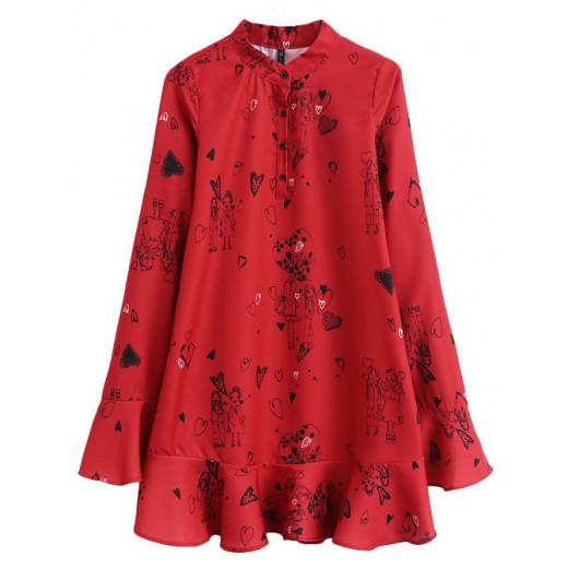 Anita Bell Sleeve Red Dress