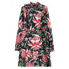 Back Insert Bright Floral Dress