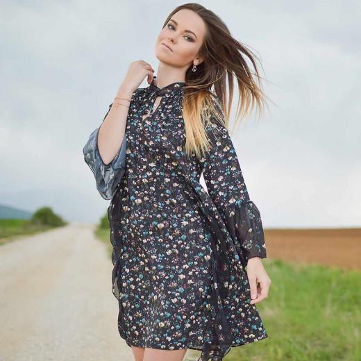'Sophie' Retro Floral Dress