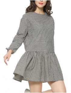 'Beatrice' Checkered Ruffle Dress