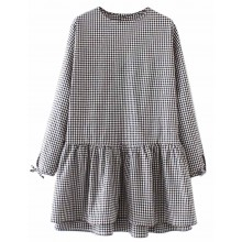 Beatrice Checkered Ruffle Dress