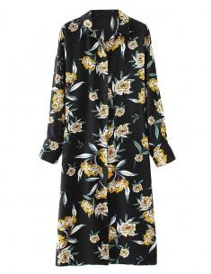 Peony Patterned Midi Dress