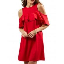 Off Shoulder Ruffle Summer Dress