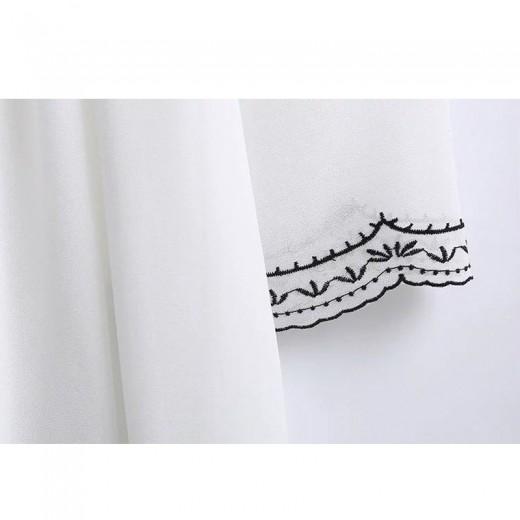 V Neck Embroidered Summer Dress