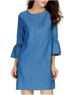 'Elisha' Ruffle Sleeve Casual Dress