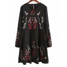 'Jovan' Birds & Floral Print Dress