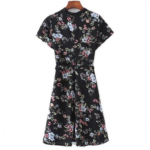 Agnes Lace Insert Floral Dress