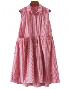 'Fedora' Oversized Checkered Dress