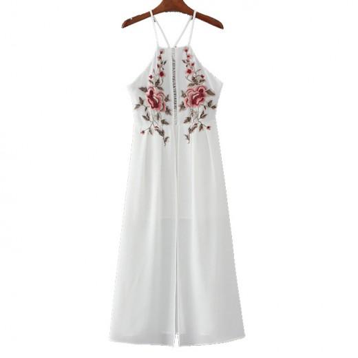 Front Split Backless Long Dress