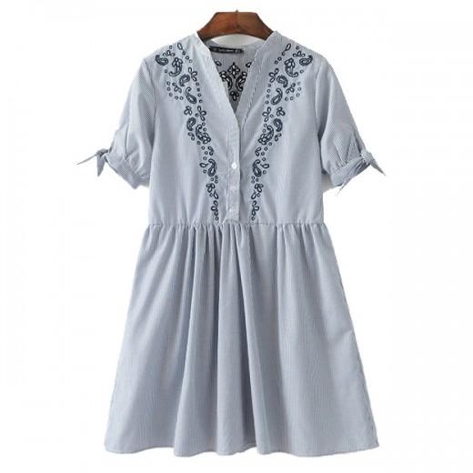 'Ellery' Embroidered Retro Dress