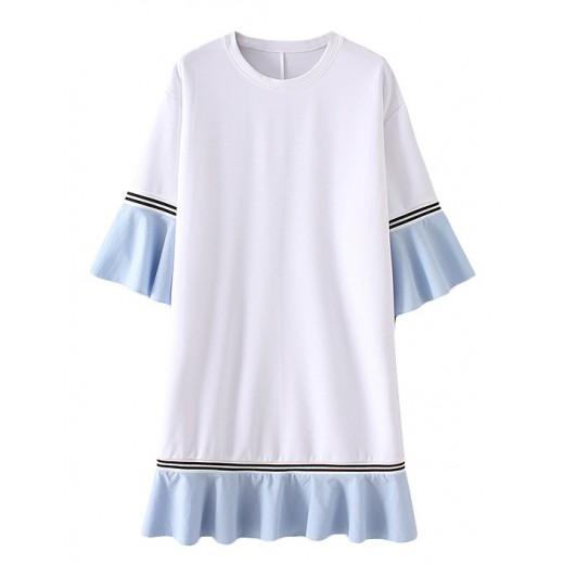 'Matilda' Bell Sleeve Ruffle Dress
