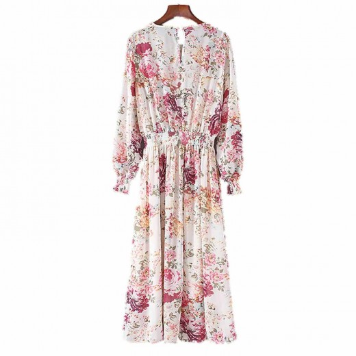 'Juanita' Two Pieces Long Floral Dress