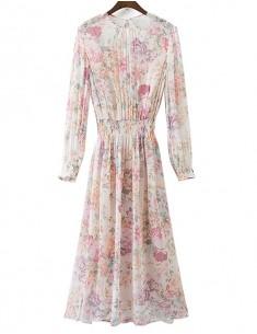 'Juanita' Two Pieces Long Floral Dress