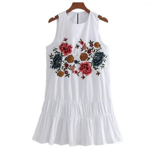 'Danette' Ruffle Hem Floral Dress