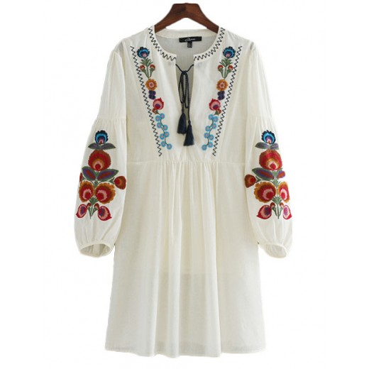 'Ainley' Floral Embroidered Dress