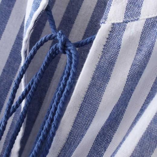 'Jane' Striped Tassel Tunic Dress