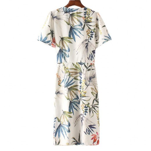 'Amelia' Floral Pattern Midi Dress