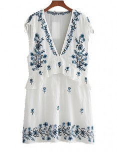 'Tami' White Transparent Tunic Dress