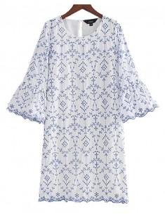 'Prudence' Flare Sleeve Vintage Dress