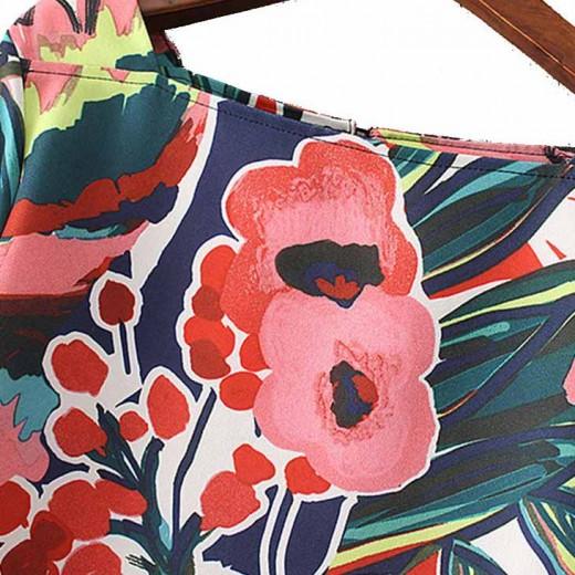'Eulalia' Flared Sleeve Floral Dress