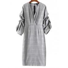 'Chantal' Gathered Sleeve Retro Dress