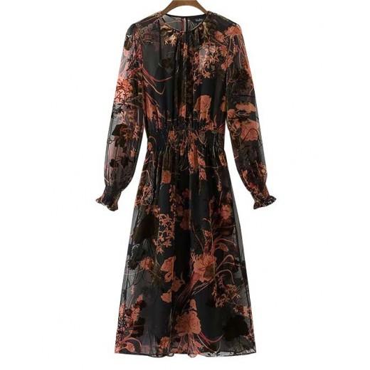 'Poline' Floral Transparent Dress