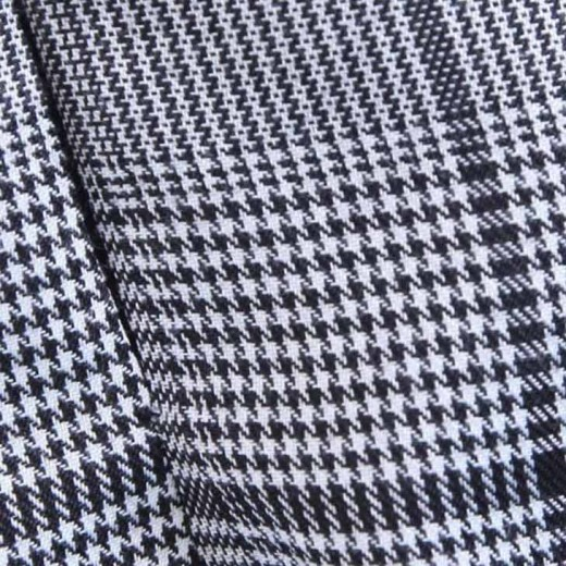 'Gigi' Long Sleeve Houndstooth Dress