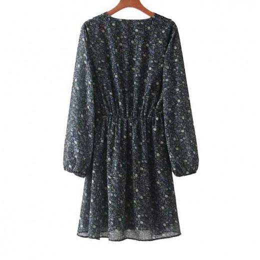 'Claudia' Lace Trim Floral Dress