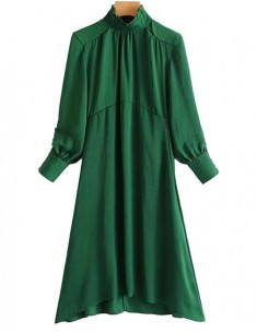 'Felicity' Retro Green Midi Dress