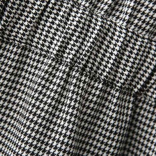 'Ora' Houndstooth Patterned Bow Dress