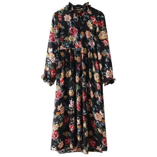 'Danica' Peony Print Floral Dress